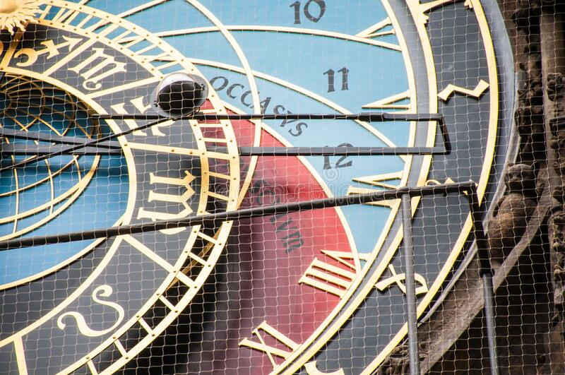 Astronomic clock in the old square in the city of Prague royalty free stock image