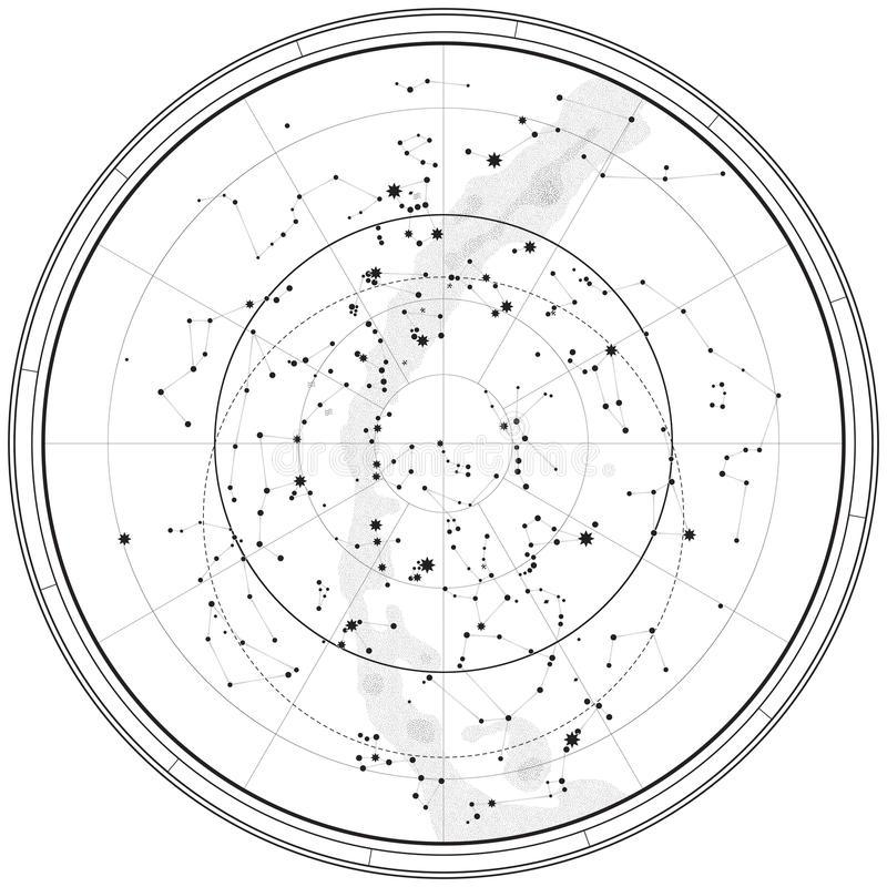 Free Astronomical Celestial Map Royalty Free Stock Images - 18192479