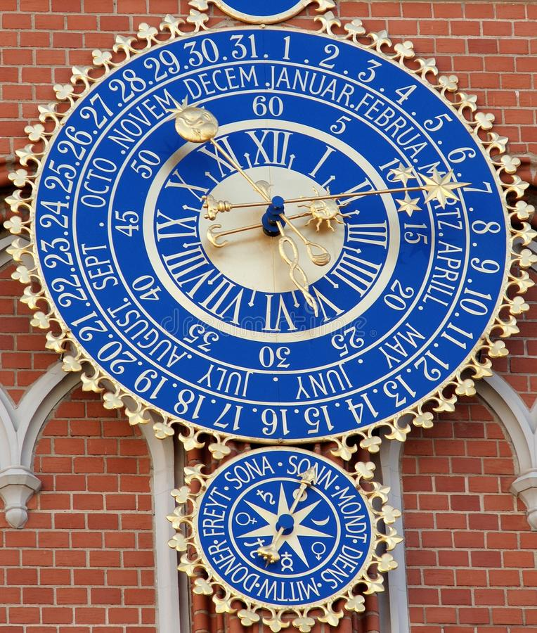 Download Astronomical clock stock photo. Image of astrology, hand - 16854564
