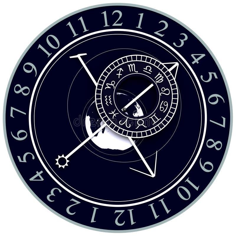 Download Astronomical Clock stock illustration. Image of astrological - 23144774
