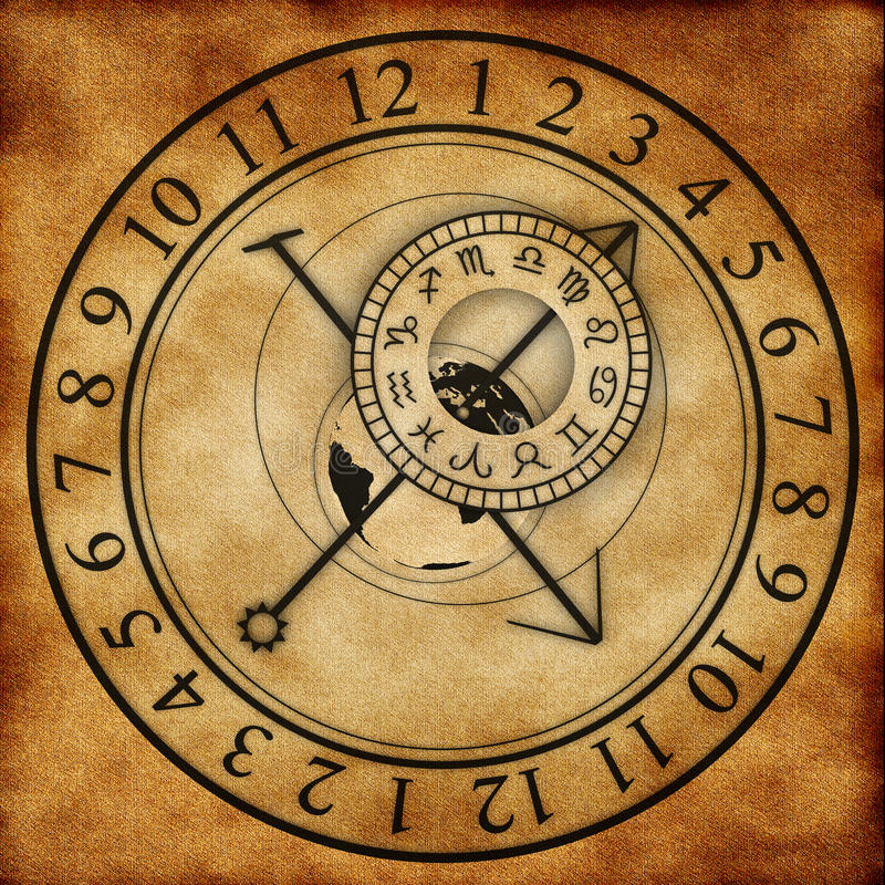 Astronomical Clock stock illustration