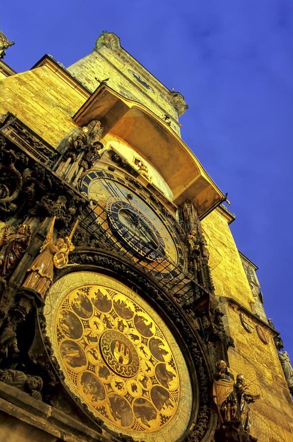 astronomical clock czech prague republic στοκ εικόνες με δικαίωμα ελεύθερης χρήσης