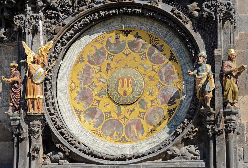 Astronomical clock, Prague stock photography