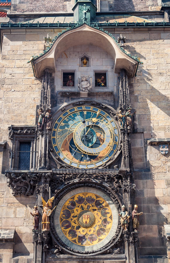 Astronomical clock, Prague stock images