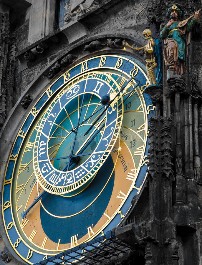 Astronomical clock - Praha landmark royalty free stock images
