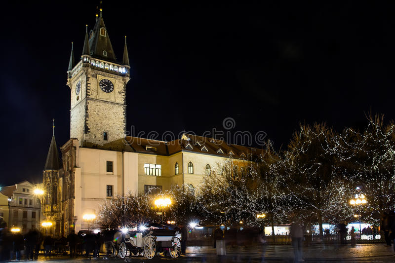 Astronomical Clock Tower at Old Town Square royalty free stock image