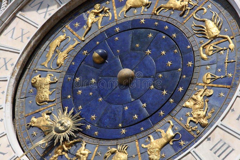 Astronomical clock in Venice, Italy royalty free stock image