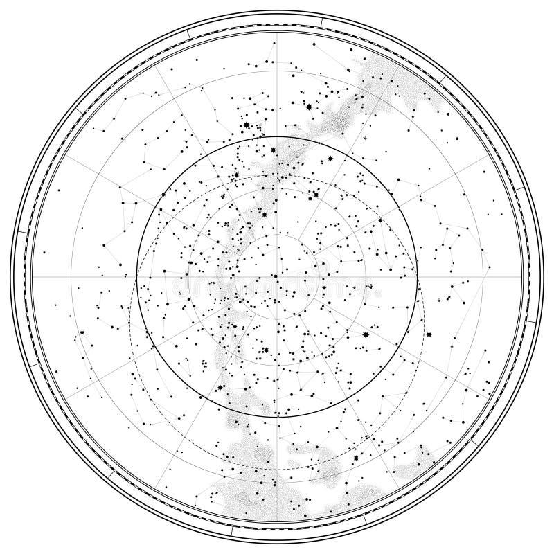 astronomical himmelsk översikt vektor illustrationer