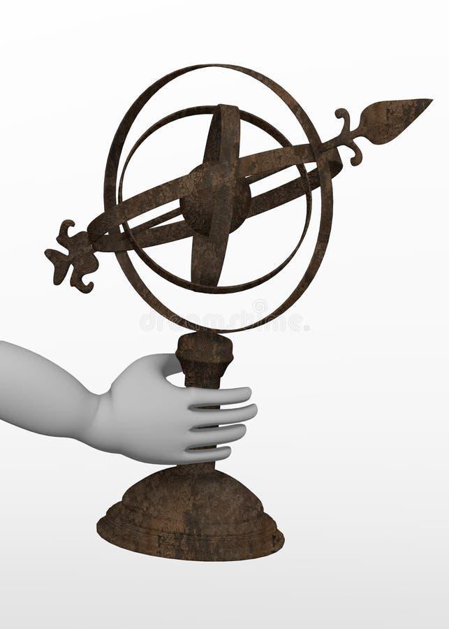 Astronomical hjälpmedel - i hand vektor illustrationer