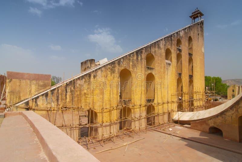 Astronomical instrument at Jantar Mantar observatory Jaipur, Rajasthan, India.  royalty free stock image