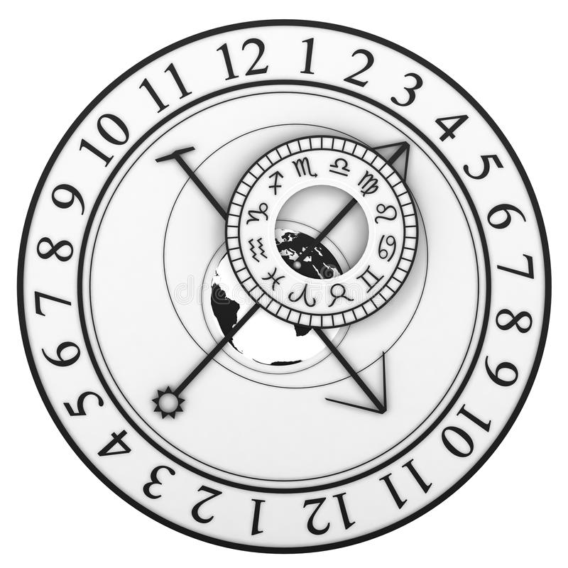 astronomical klocka stock illustrationer