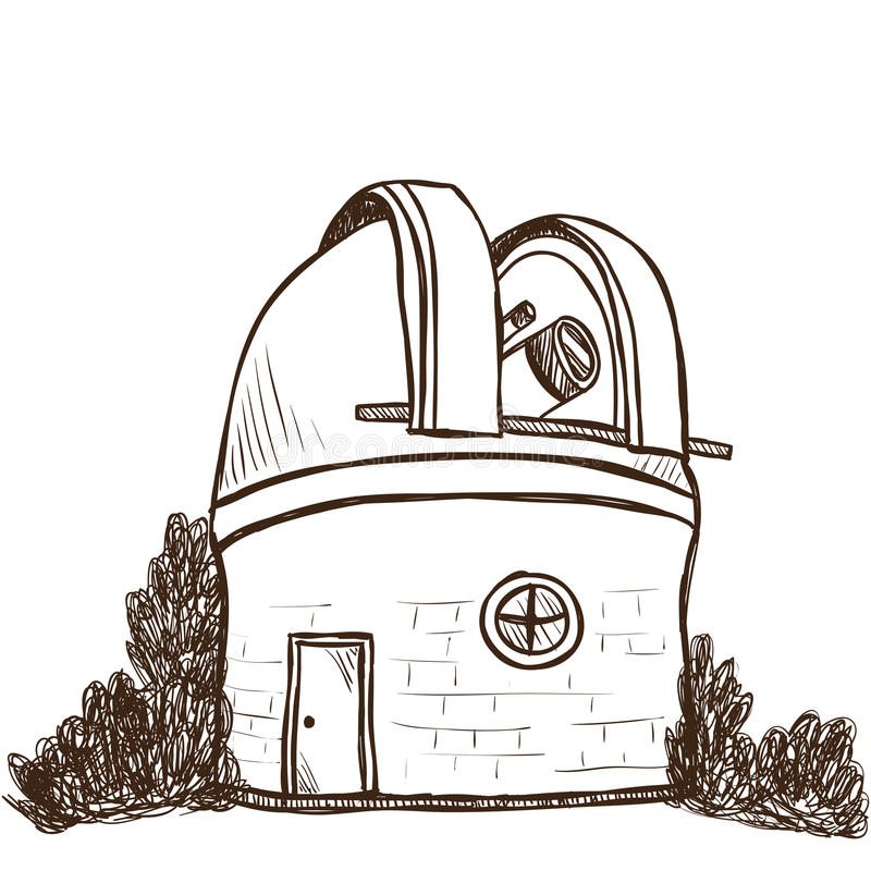Astronomical observatorium stock illustrationer