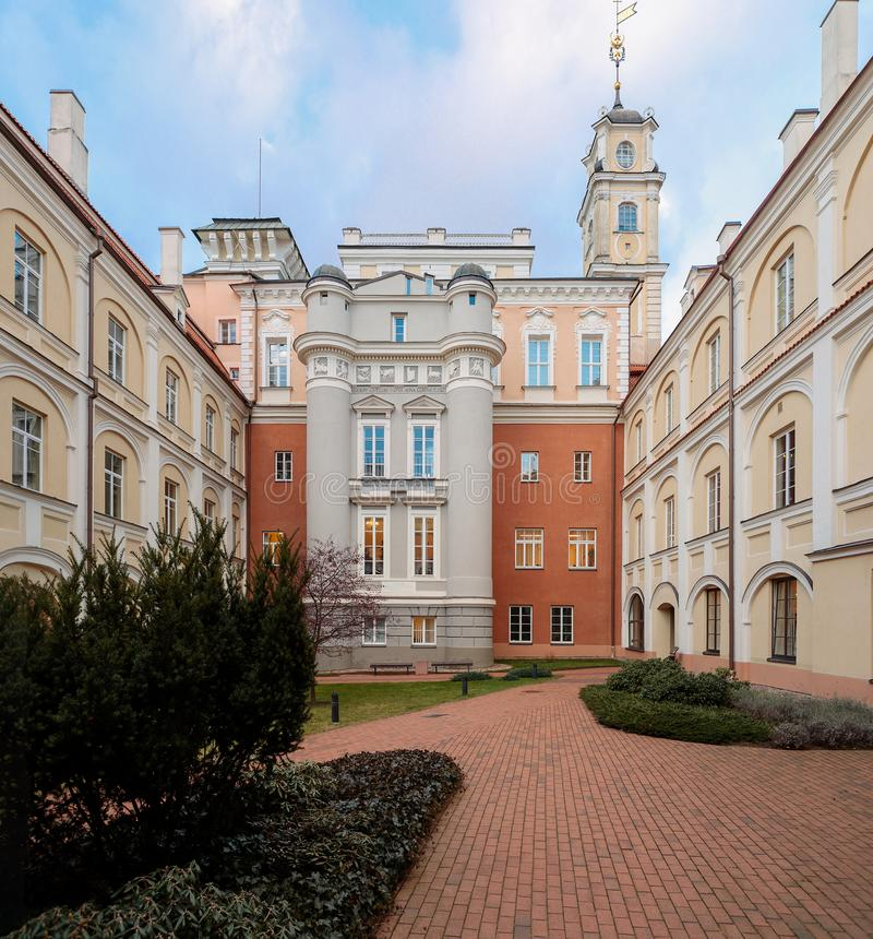Astronomical Observatory courtyard at Vilnius University royalty free stock image