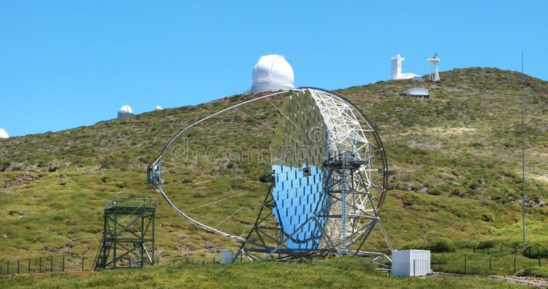 Astronomical observatory in Roque de los Muchachos. La Palma. Sp royalty free stock photos