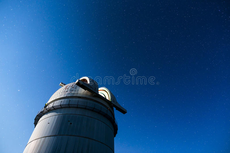 Astronomical Observatory under the night sky stars royalty free stock image