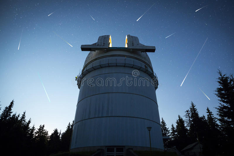 Astronomical Observatory under the night sky stars stock photos