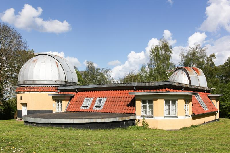 Astronomical observatory of Aarhus in Denmark. Astronomical Ole Romer observatory of Aarhus in Denmark royalty free stock photo