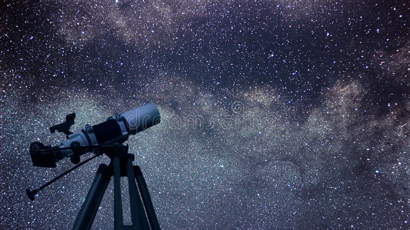 Astronomical Telescope constellation Aquila in the night sky. Ea. Gle constellation Beautiful night sky Real night sky. Milky Way and Eagle constellation royalty free stock photos