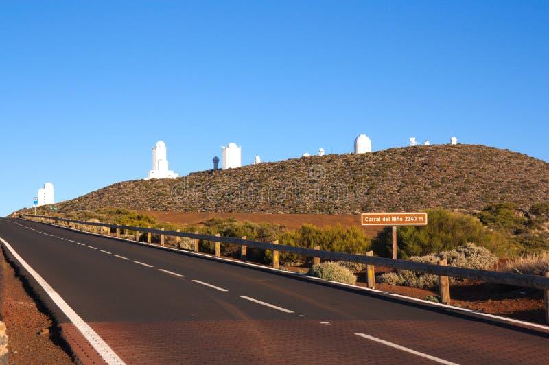 Astronomiczny centrum w cañadas Del Teide zdjęcia royalty free