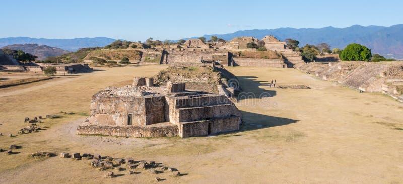 Astronomiczny obserwatorium ruiny Monte Alban, Oaxaca, -, Meksyk fotografia stock