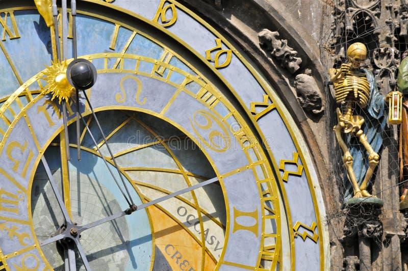 Astronomiczny zegar, Praga: zakończenie zdjęcie royalty free