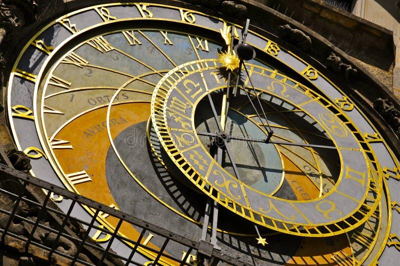 Astronomiczny zegar, Praga: zakończenie obrazy stock