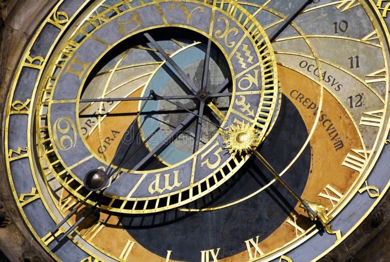 Astronomiczny zegarek Praga zdjęcia royalty free