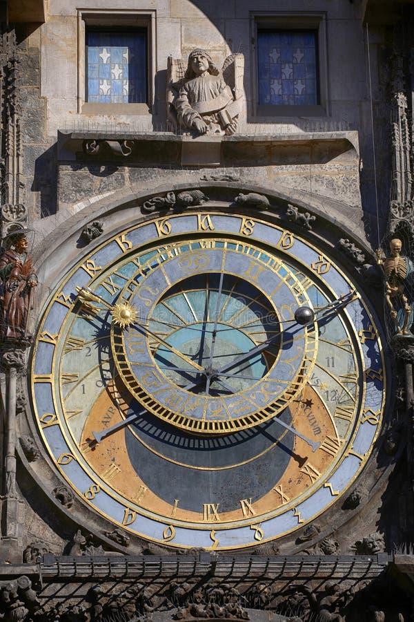 Astronomiczny zegarowy Orloj przy Starym rynkiem w Praga, Czeski ryps zdjęcie stock