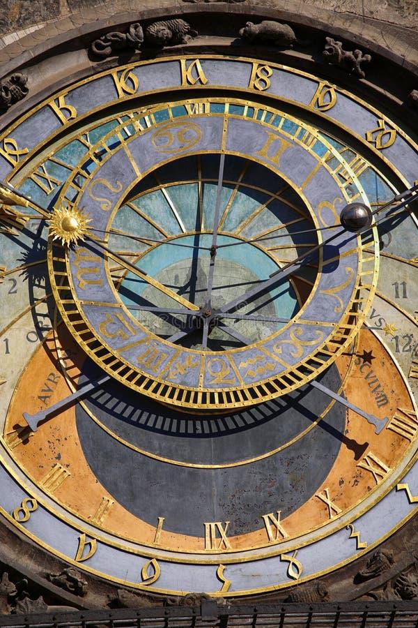 Astronomiczny zegarowy Orloj przy Starym rynkiem w Praga, Czeski ryps zdjęcia stock