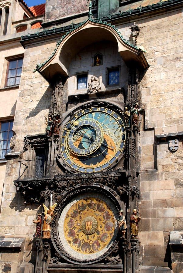 astronomicznych zegarów czeski Prague ryps zdjęcie stock
