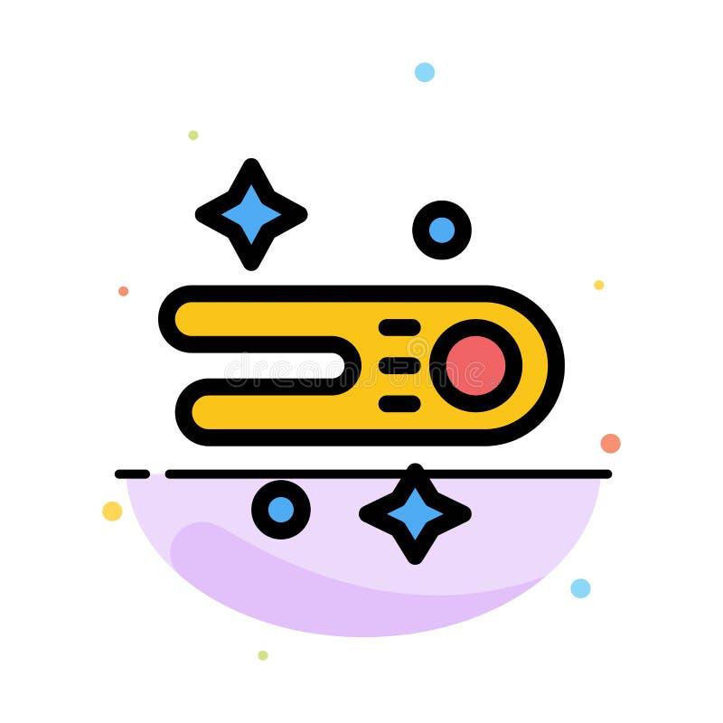 Astronomie, comète, calibre plat d'icône de couleur d'abrégé sur l'espace illustration stock