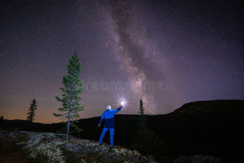 Astronomie- en nachtfotografie royalty-vrije stock foto