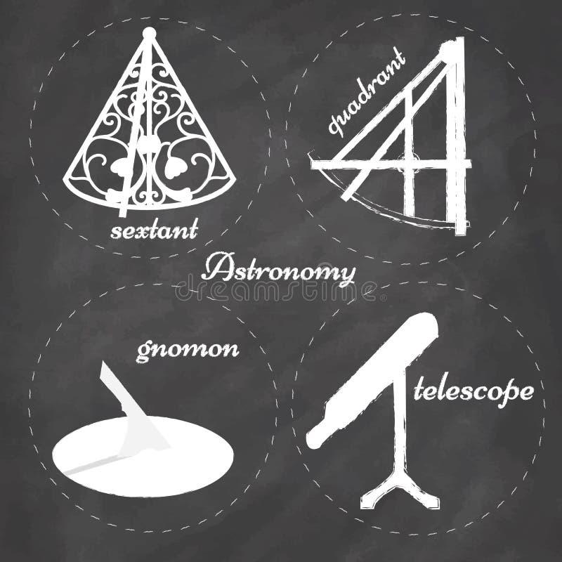 Astronomie-Instrumente vektor abbildung