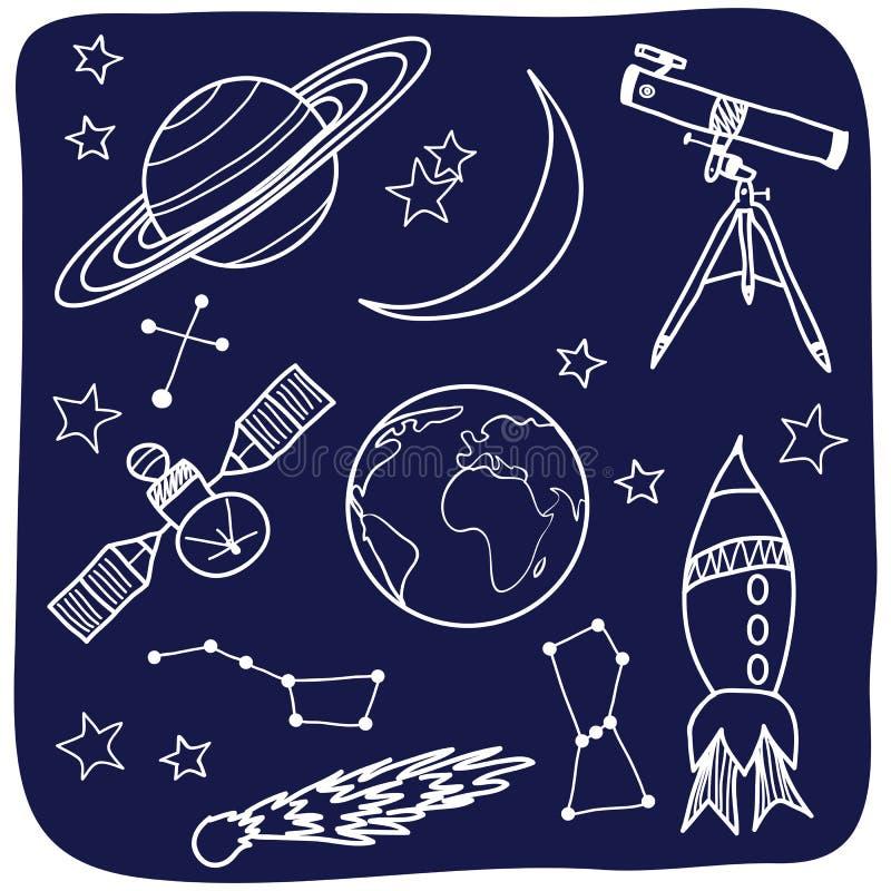 Astronomie - Platz- und Himmelsnachrichten stock abbildung