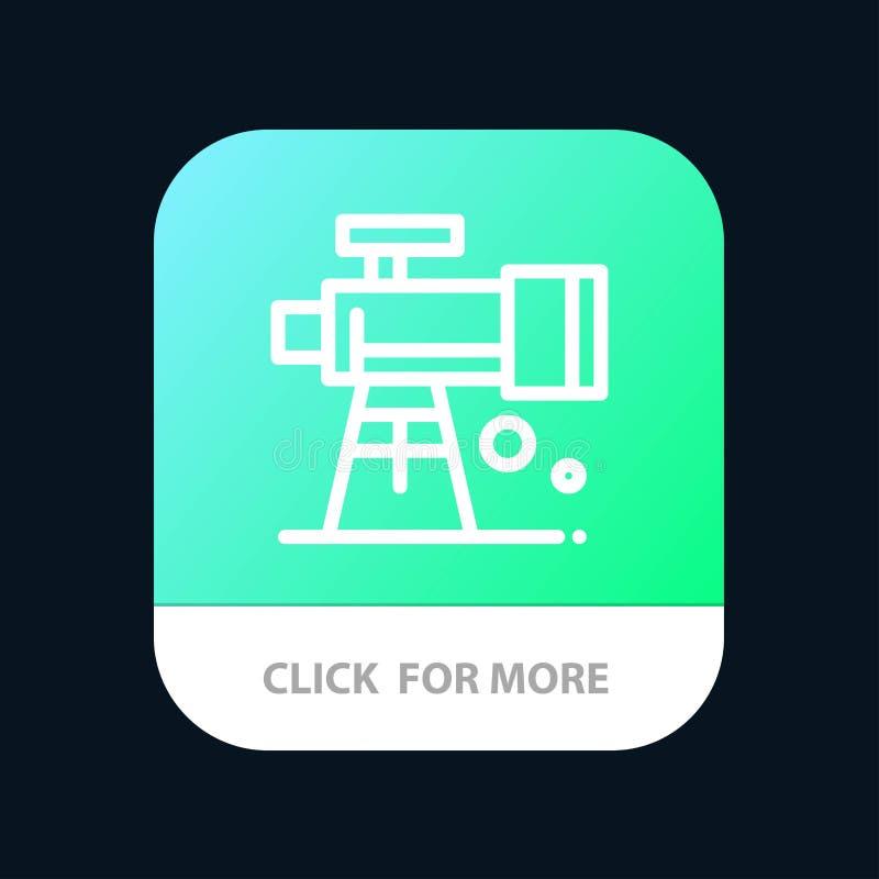 Astronomie, portée, l'espace, bouton mobile d'appli de télescope Android et ligne version d'IOS illustration libre de droits