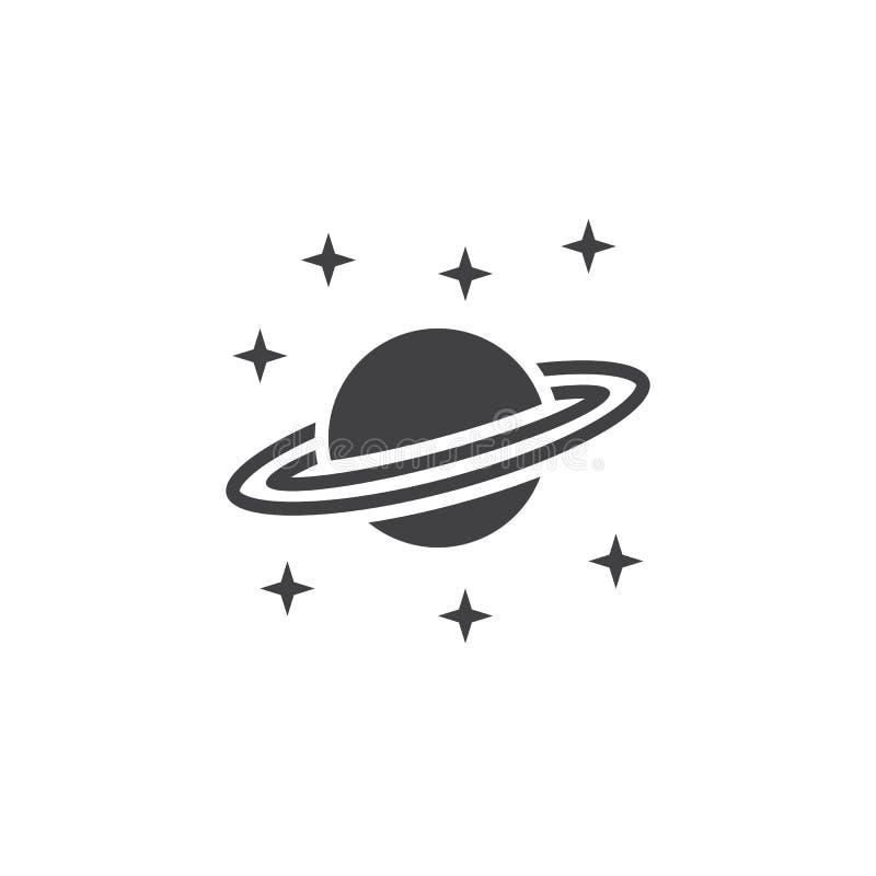 Astronomii ikony wektor, Saturn planety stały logo, piktograma isola ilustracja wektor