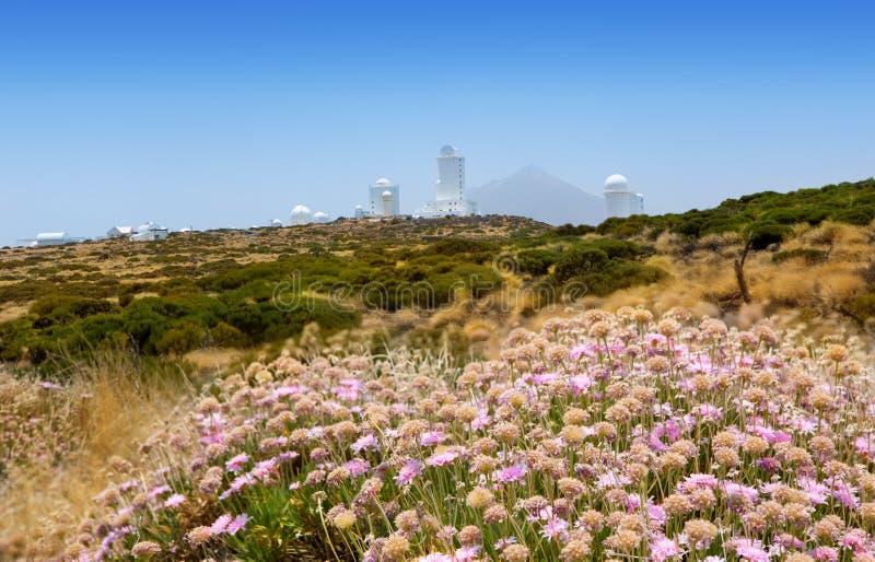 Astronomii obserwatorium w Teide Izaña przy Tenerife zdjęcie stock
