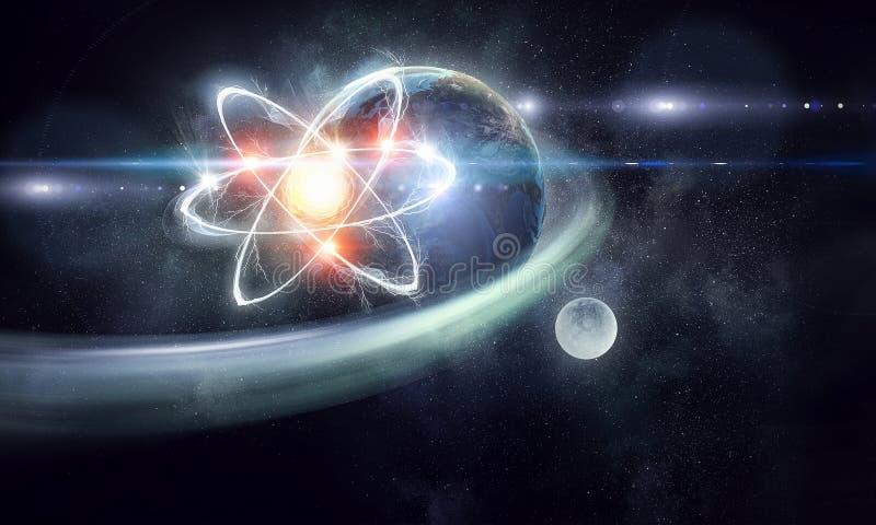Astronomii pojęcia tło świadczenia 3 d obraz stock
