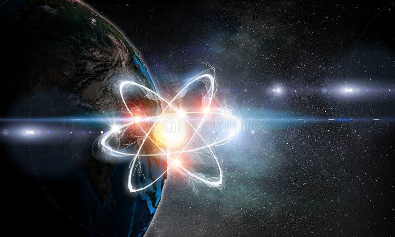 Astronomii pojęcia tło świadczenia 3 d zdjęcie stock