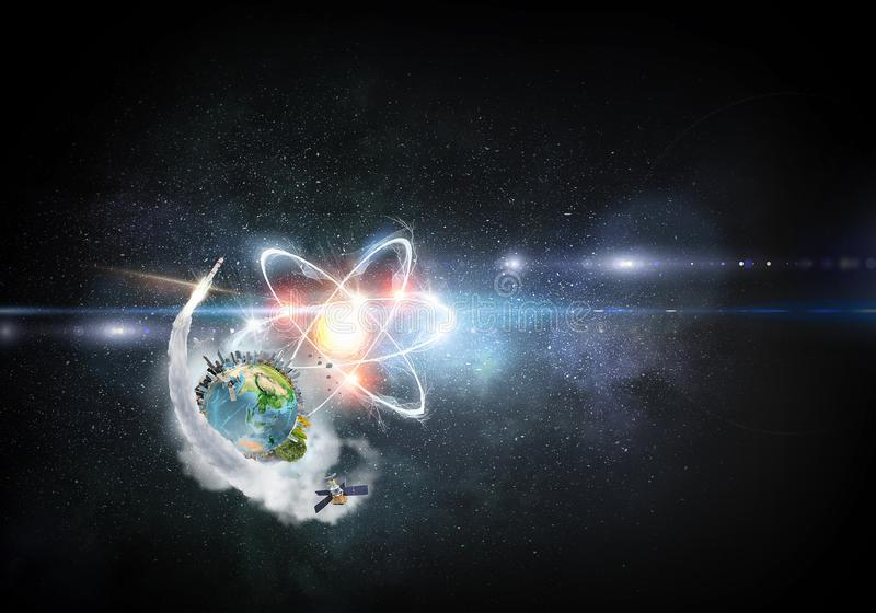 Astronomii pojęcia tło świadczenia 3 d obraz royalty free