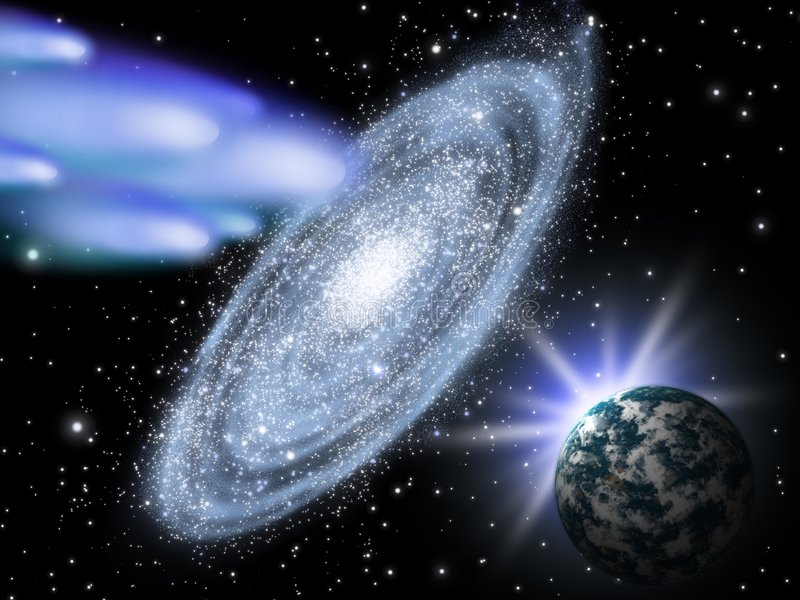 astronomii tła galaxy royalty ilustracja