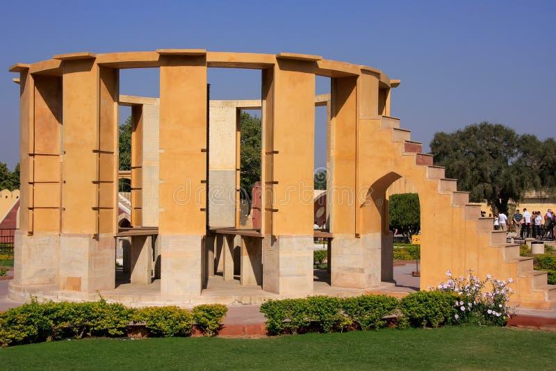 Astronomisch Waarnemingscentrum Jantar Mantar in Jaipur, Rajasthan, Ind. stock afbeelding