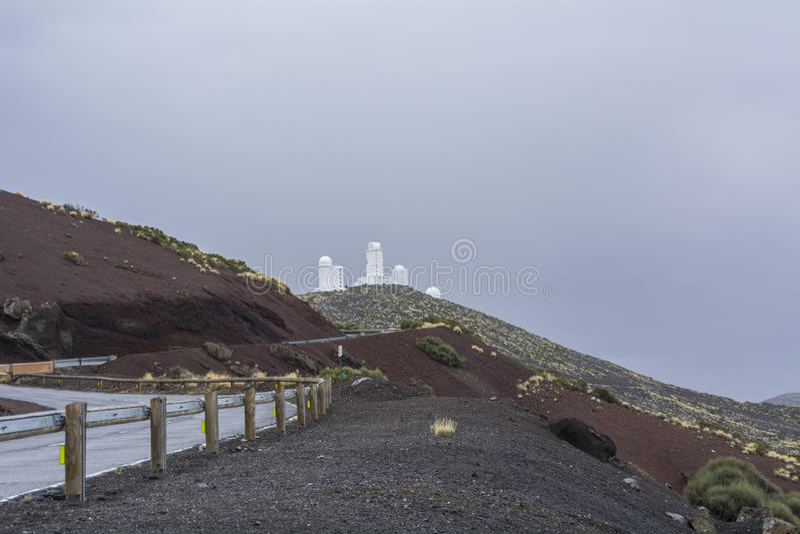 Astronomisch Waarnemingscentrum Teide, Tenerife, Canarische Eilanden royalty-vrije stock foto