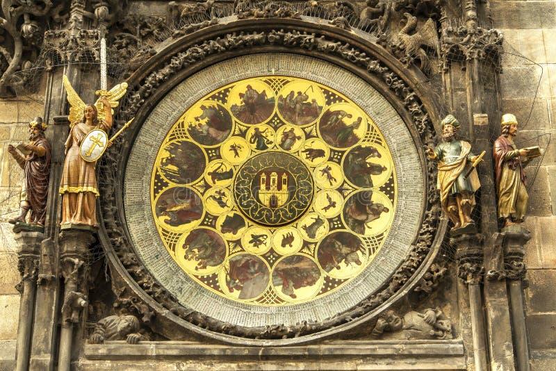 Astronomische Borduhr in Prag stockfotografie