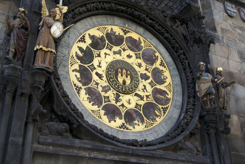Astronomische Kalender in Praag royalty-vrije stock foto's
