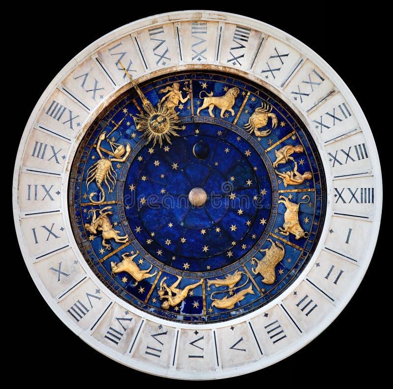 Astronomische klok royalty-vrije stock foto's