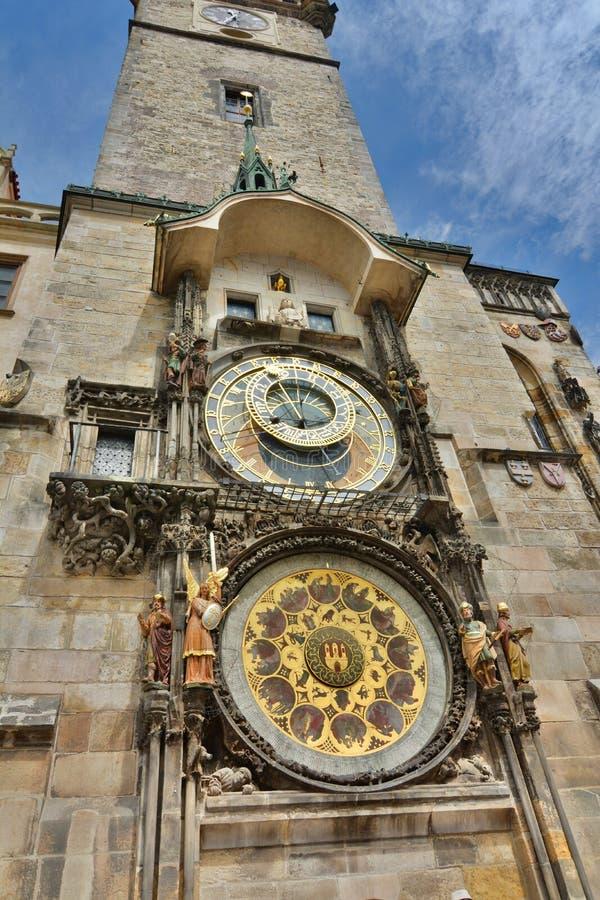 Astronomische klok Oud Stadhuis praag Tsjechische Republiek royalty-vrije stock afbeelding