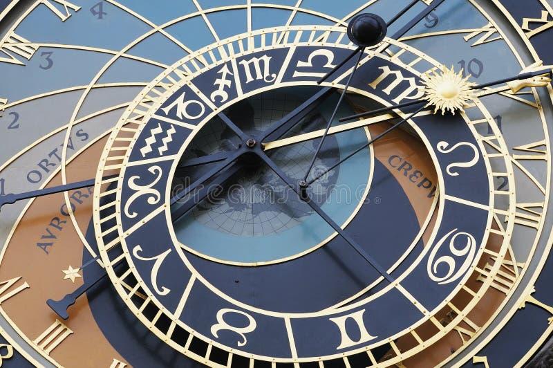 Astronomische klok in Praag stock fotografie