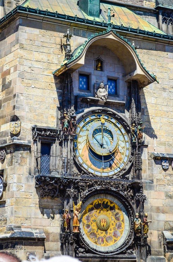 Astronomische klok in Praag royalty-vrije stock foto