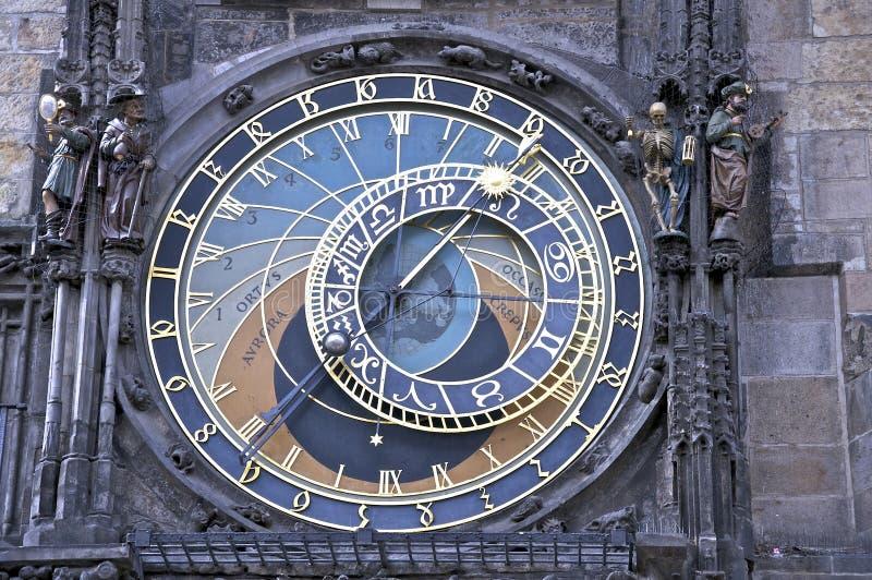 Astronomische klok in Prag stock foto